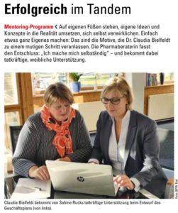 Claudia Bilefeld und Sabine Rucks im Gespräch